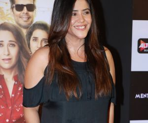 Actress Ekta Kapoor at the special screening ff web series mentalhood