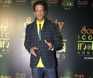 Actor Javed Jaffrey during Society Awards at Taj Santacruz.