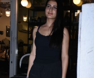Actress Fatima Sana Shaikh seen at bblunt bandra.