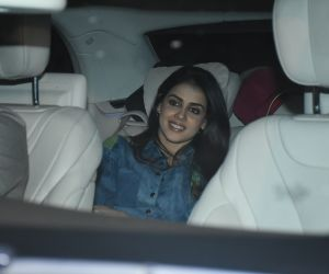 Actress Genelia D Souza Arrived for Siddharth Malhotra birthday party.