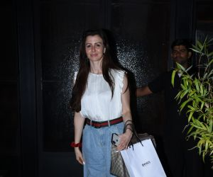 Actress Giorgia Andriani seen at Bandra.