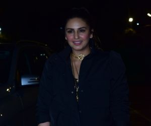 Actress Huma Qureshi during the screening of film Thappad at pvr icon in andheri