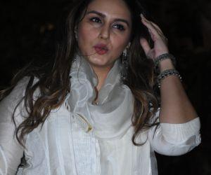 Actress Huma Qureshi seen at Isha Ambani's residence in worli