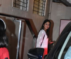 Actress Ileana D'cruz seen at bandra.