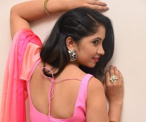 Actress Indu during an interview