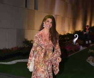 Actress Jacqueline Fernandez celebrate Isha Ambani's Holi Party at her residence in worli
