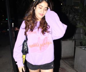 Actress Janhavi Kapoor seen at juhu