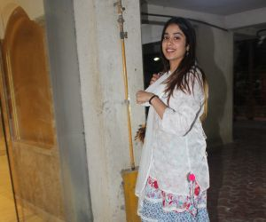 Actress Janhavi Kapoor spotted at Arjun Kapoor's house in juhu