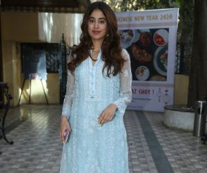 Actress Janhvi Kapoor at the inauguration of Surinder Kapoor chowk at chembur