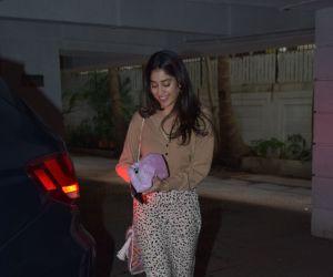 Actress Janhvi Kapoor seen at juhu.