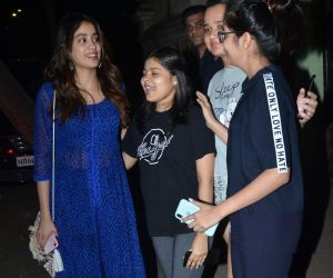 Actress Janhvi Kapoor seen at Juhu with childrens
