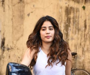 Actress Janhvi Kapoor spotted at Pilatis gym in khar.