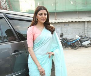 Actress Kajal Aggarwal during the photo session