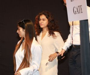 Actress Kajol  Attend Prayers Meet of Shabana Azmi Mom.