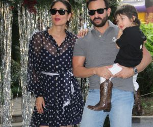 Actress Kareena Kapoor and husband Taimur Ali Khan Party.