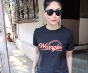 Actress  Kareena Kapoor seen at dubbing studio in bandra