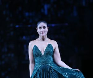 Actress Kareena Kapoor walks the ramp at Lakme Fashion grand finale