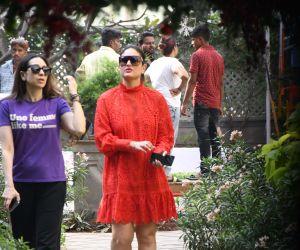 Actress Karisma Kapoor and  kareena Kapoor at Taimur Ali Khan Party.
