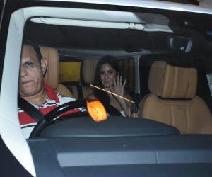 Actress Katrina Kaif seen at Ritesh Sidhwani's house in bandra.