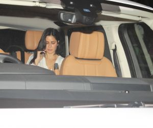 Actress Katrina Kaif spotted in car