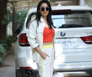 Actress Kiara Advani seen at dubbing studio in juhu