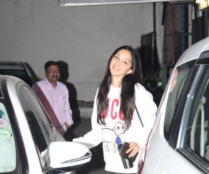 Actress Kiara Advani Seen at dharma office in Bandra.