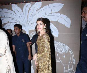 Actress Kriti Sanon at actor Amitabh Bachchan's Diwali party