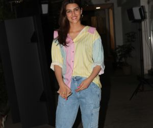 Actress Kriti Sanon attend screening of film Angrezi Medium at sunny sound juhu