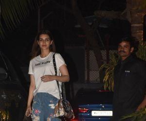 Actress  Kriti Sanon seen at maddock films office in santacruz.
