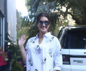 Actress Kriti Sanon seen at maddock office in santacruz.