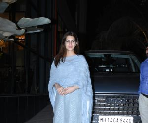 Actress Kriti Sanon seen at maddock office in SantaCruz