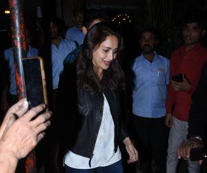 Actress Madhuri Dixit seen at Pali Bhavan restaurant in bandra