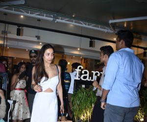 Actress Malaika Arora seen at Farmer's Cafe in bandra