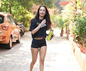 Actress Malaika Arora spotted at diva yoga in bandra.