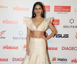 Actress Manushi Chhillar During the Star Studded 4th Edition Of Lokmat Most Stylish Awards