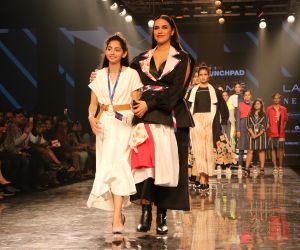 Actress Neha Dhupia walks as showstopper for INIFD Launchpad
