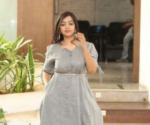 Actress Nithya Shetty during the photo session of film O Pitta Katha