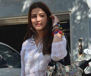 Actress nupur Sanon seen at Juhu