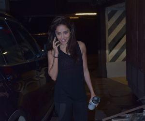 Actress  Nushrat Barucha seen at gym in juhu.
