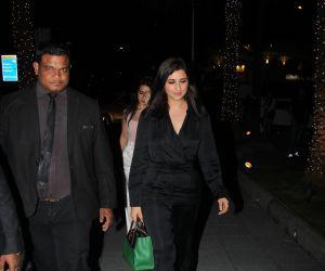 Actress Parineeti Chopra spotted at Yauatcha Mumbai.