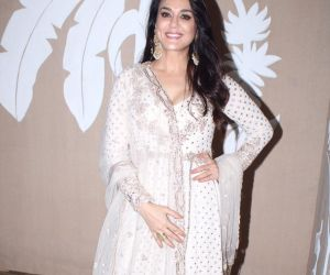 Actress Preity Zinta at actor Amitabh Bachchan's Diwali party