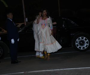 Actress Priyanka Chopra celebrate Isha Ambani's Holi Party at her residence in worli