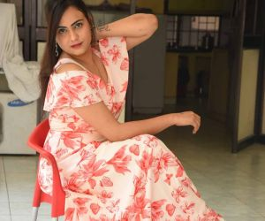 Actress Priyansha Dubey Posses for Photo