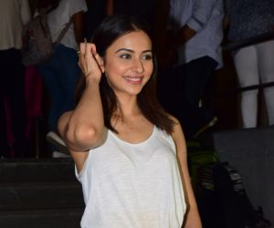 Actress Rakul preet singh during the screening of film Thappad at pvr icon in andheri