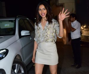 Actress Rakul Preet Singh poses for a photo during the screening of Angrezi Medium at pvr juhu