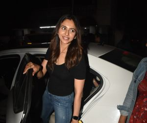 Actress Rakul Preet Singh spotted at bandra Street.