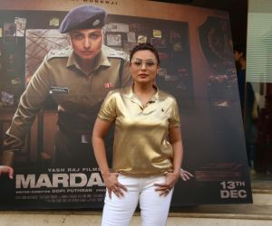 Actress Rani Mukherji in Promotion of Movie Mardani 2.