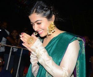 Actress Rashmika mandanna during the movie promotion event