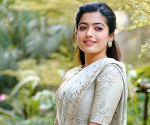 Actress Rashmika Mandanna in beautiful saree
