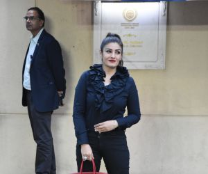 Actress Raveena Tandon attend the annual day function of Dhirubhai Ambani International School.